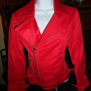 Retro Vintage Red Thriller Jacket, Size 4